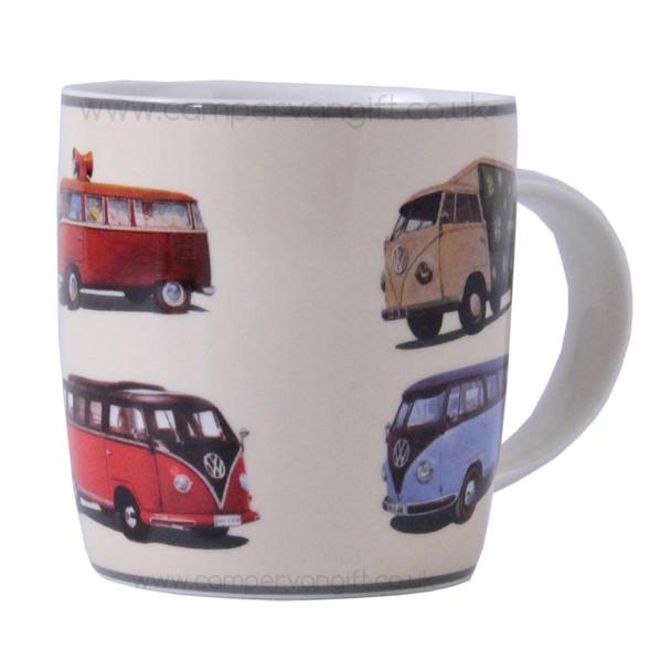 Splitscreen VW Parade Campervan Colours Mug