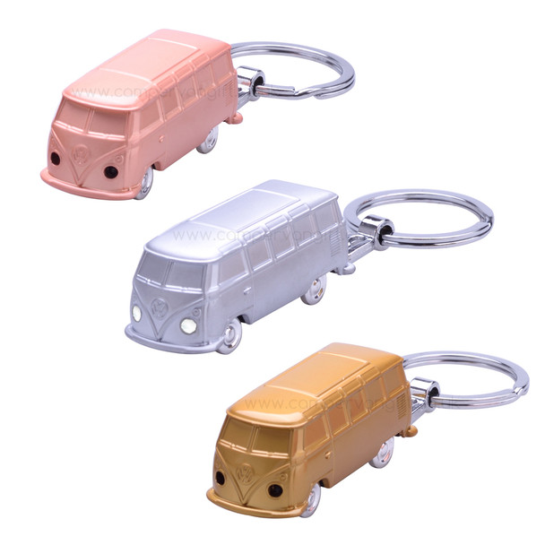 Volkswagen Campervan LED Metal Torch Key Ring