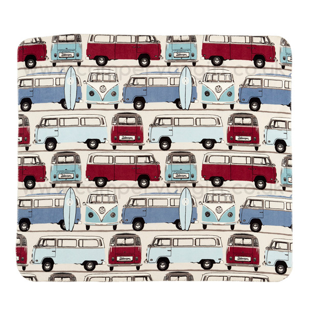 Volkswagen Catch The Waves Campervan Fleece Throw Blanket