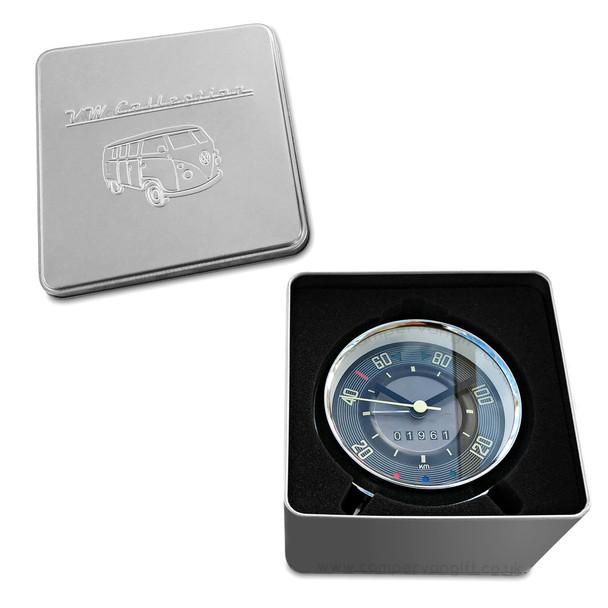 VW Campervan Speedometer Alarm Clock - Includes Gift Presentation Tin
