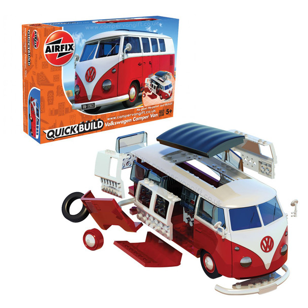 Airfix Quick Build Volkswagen Red Campervan
