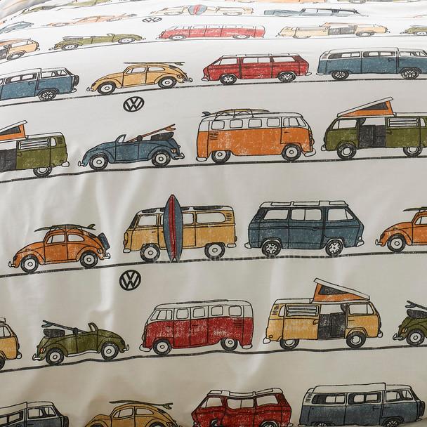 Volkswagen Fun Camper Van Duvet and Pillow Case Set