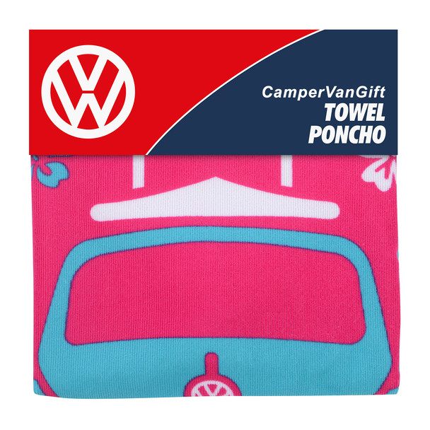 Volkswagen Beetle Kids Pink Beach Poncho