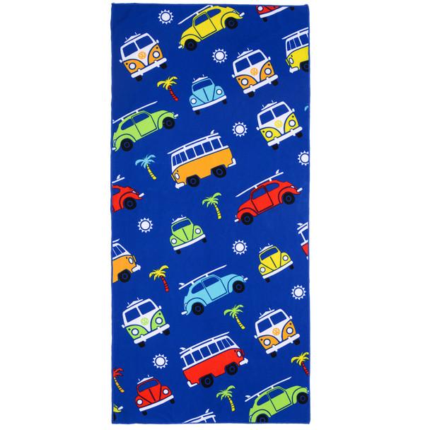 Volkswagen Campervan Kids Blue Beach Towel