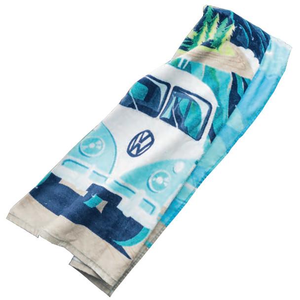 Volkswagen Campervan Exploring Beach Towel