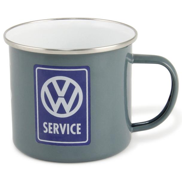 VW T1 Campervan Service Enamel Tin Mug