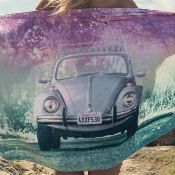 Volkswagen California Beetle Beach Towel
