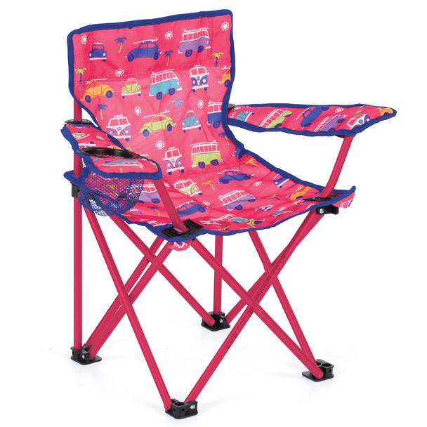 Volkswagen Campervan Kids Pink Camping Chair