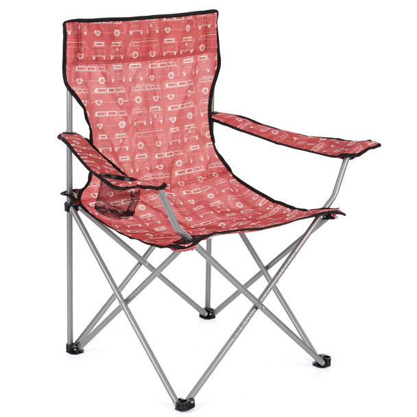 Volkswagen Campervan Red Beach Folding Camping Chair