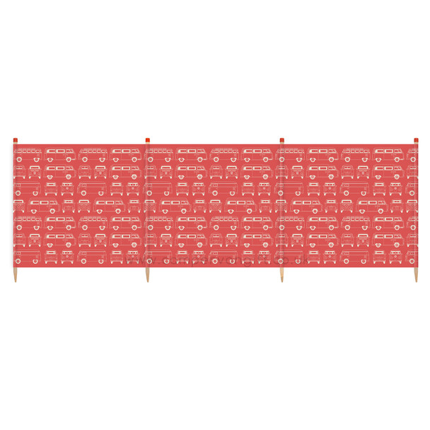 Volkswagen Campervan Red Beach Windbreak - 4 Pole Version