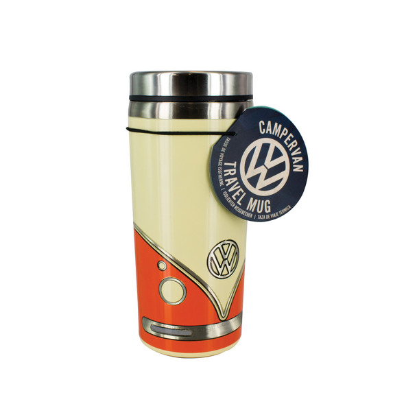 Volkswagen Campervan Orange Travel Mug