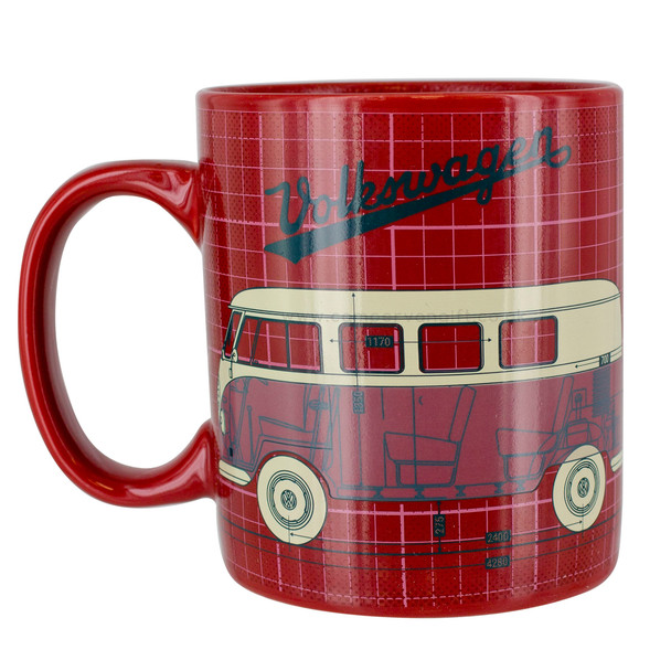 Volkswagen Campervan Red Heat Change Mug