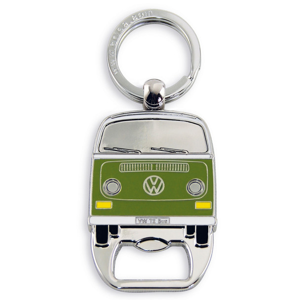 VW Bay Campervan Metal Bottle Opener Keyring