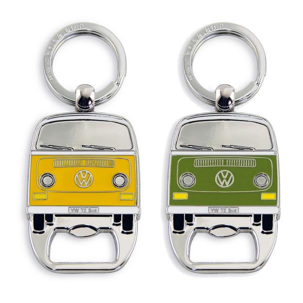 VW Bay Campervan Metal Bottle Opener Keyring