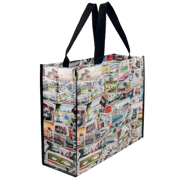 Volkswagen Campervan Stamps Reusable Shopper Bag