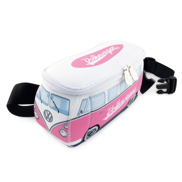 VW Pink Campervan Neoprene Hip Bag