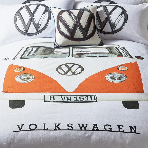 Volkswagen Orange Campervan Duvet and Pillow Case Set