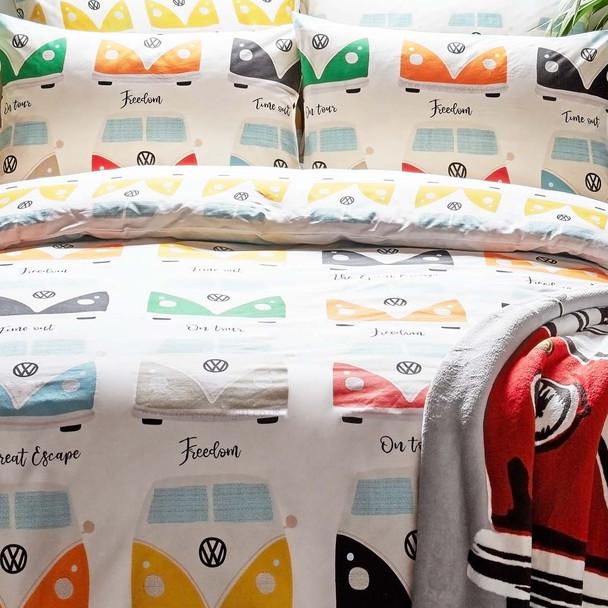 Volkswagen Multi Campervan Duvet and Pillow Case Set
