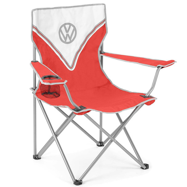 Volkswagen Red Campervan Folding Camping Chair