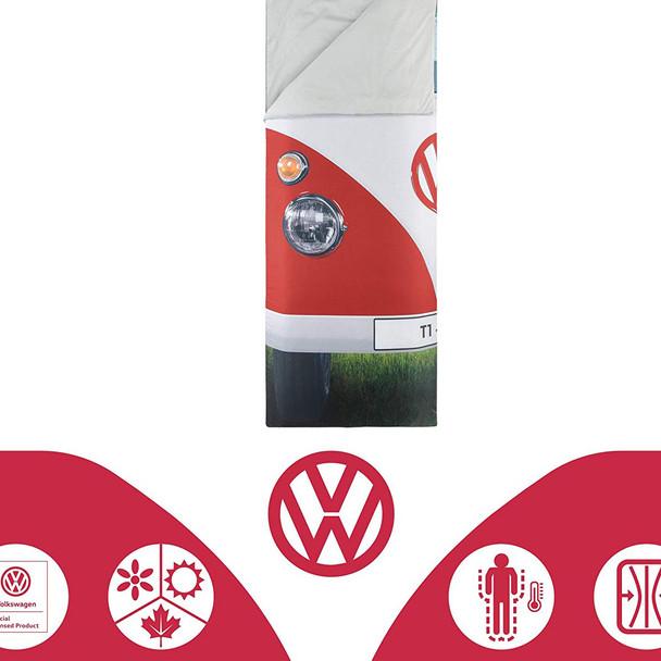 Volkswagen Campervan Red Single Sleeping Bag