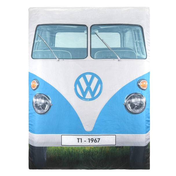 Volkswagen Campervan Reversible Double Sleeping Bag - Blue Side