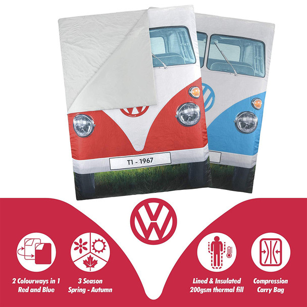 Volkswagen Campervan Reversible Double Sleeping Bag