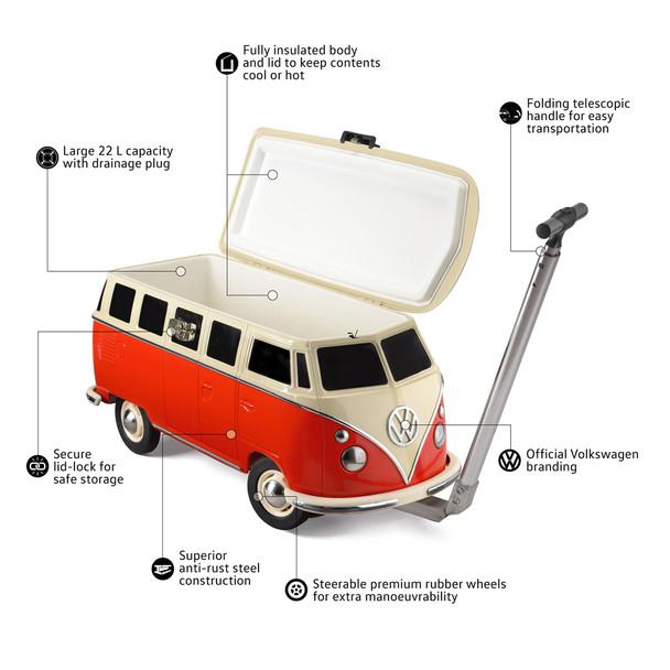 Volkswagen Campervan Pull Along Cooler Box - Features