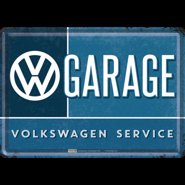 Volkswagen Campervan VW Garage Metal Card