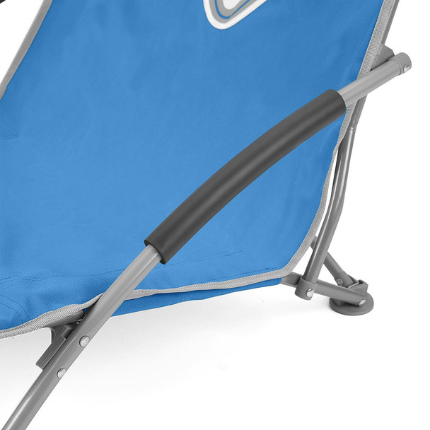 Volkswagen Blue Campervan Folding Low Camping Chair