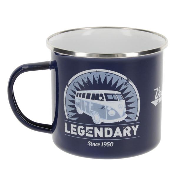 VW T1 Campervan Legendary Blue Enamel Tin Mug