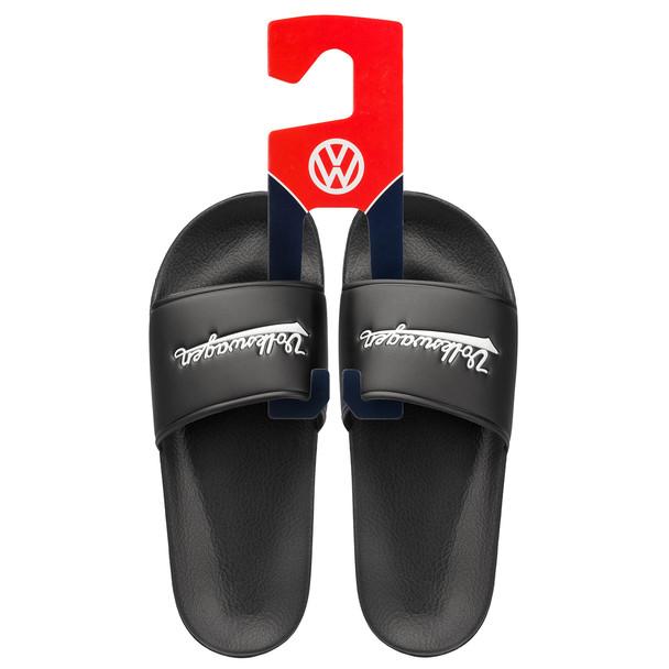 Volkswagen Campervan Black Slider Flip Flops