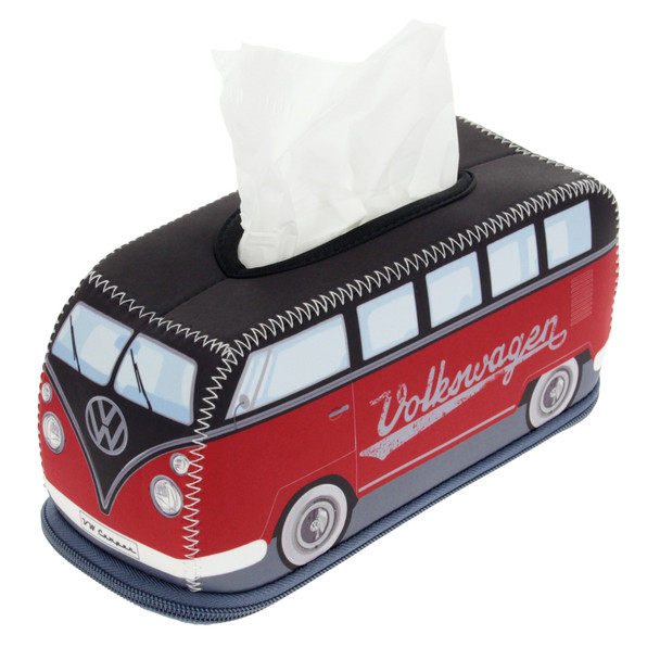 VW Black & Red Campervan Neoprene Tissue Box Holder