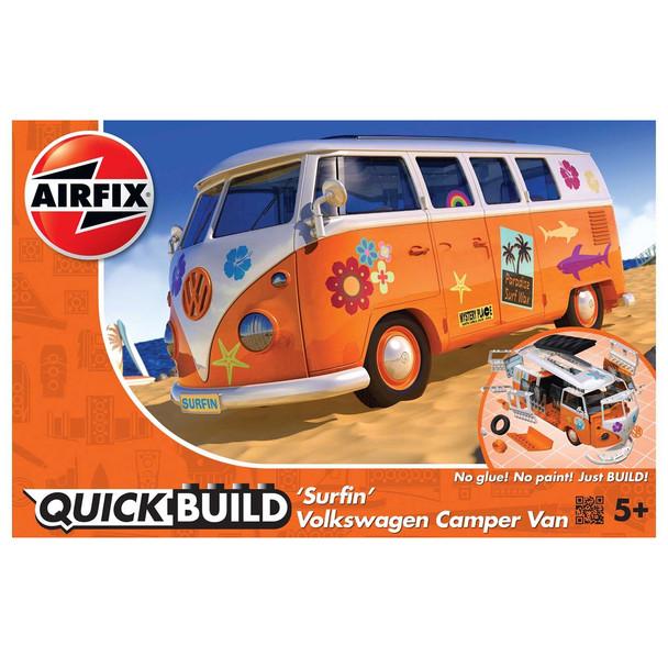 Airfix Quick Build Volkswagen Orange Surfin Campervan