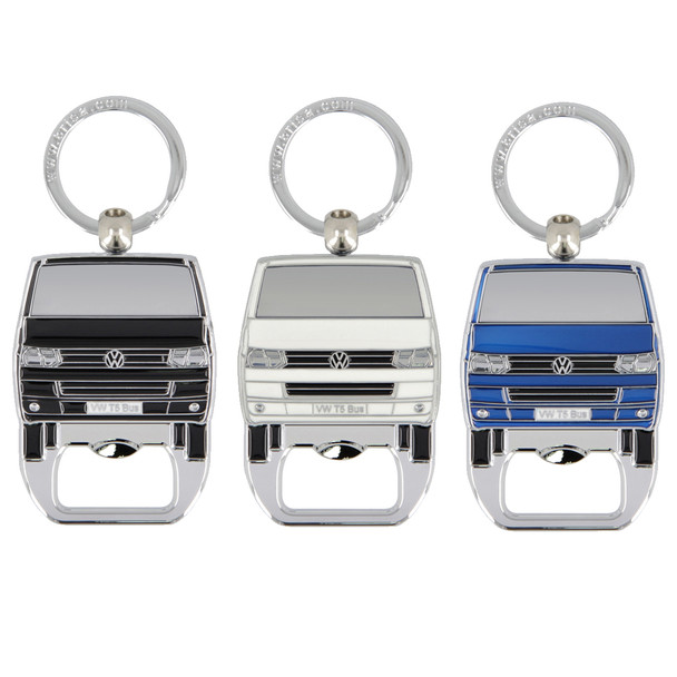 VW T5 Campervan Metal Bottle Opener Keyring