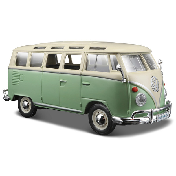 VW Green and White Samba Diecast Campervan
