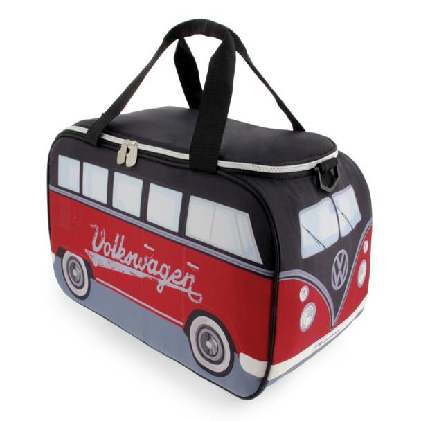 Volkswagen Campervan Black & Red Thermal Cool Bag