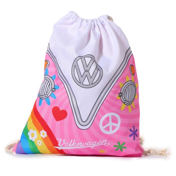 Volkswagen Summer Love Campervan Drawstring Bag