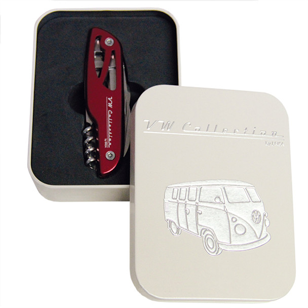 VW Campervan Multi Use Penknife - Complete with Gift Presentation Tin.