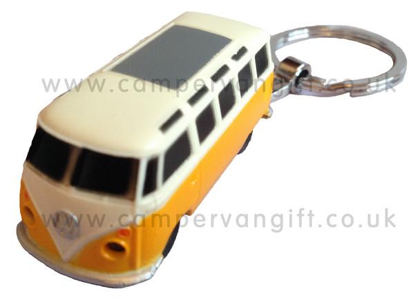Official VW Campervan Torch Key Ring - Orange