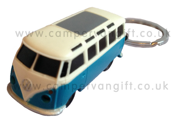 Official VW Campervan Torch Key Ring - Blue