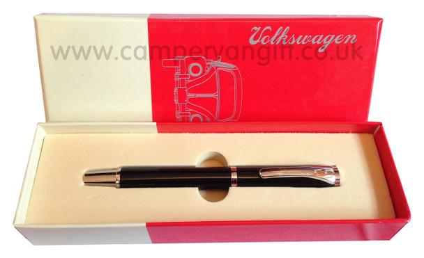 Official VW Ballpoint Pen - Black Pen in Gift Box