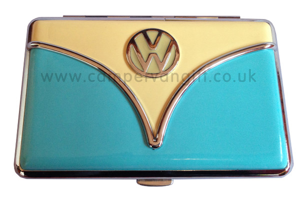 Official VW Campervan Card Holder - Blue and Cream