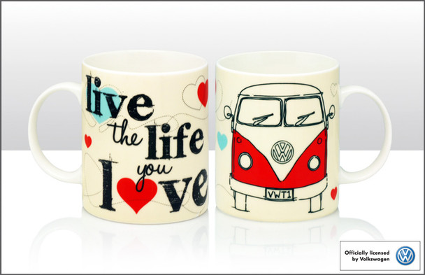 VW Live The Life You Love Campervan Mug
