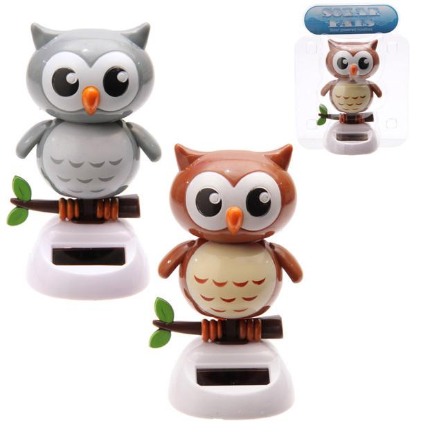 Solar Powered Dancing Owls