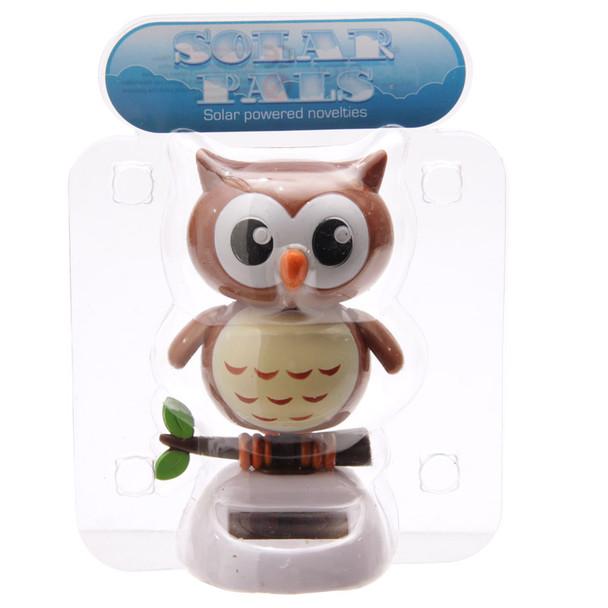 Solar Powered Dancing Owl - Brown