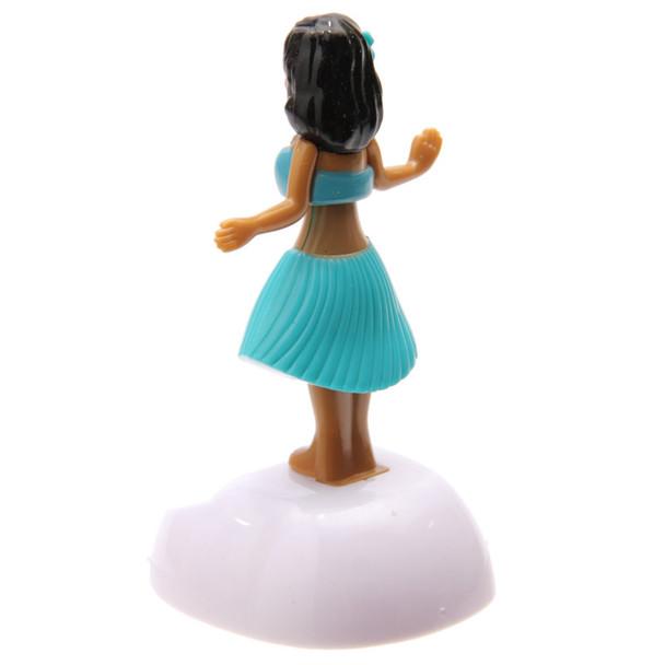Solar Powered Dancing Hula Girl - Blue