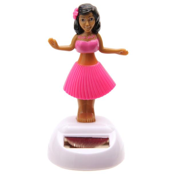 Solar Powered Dancing Hula Girl - Pink