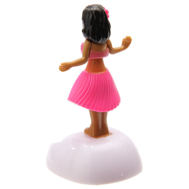 Solar Powered Dancing Hula Girl - Pink