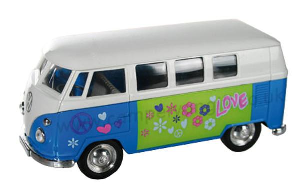 Blue Diecast Campervan Pull Back & Go Toy Model
