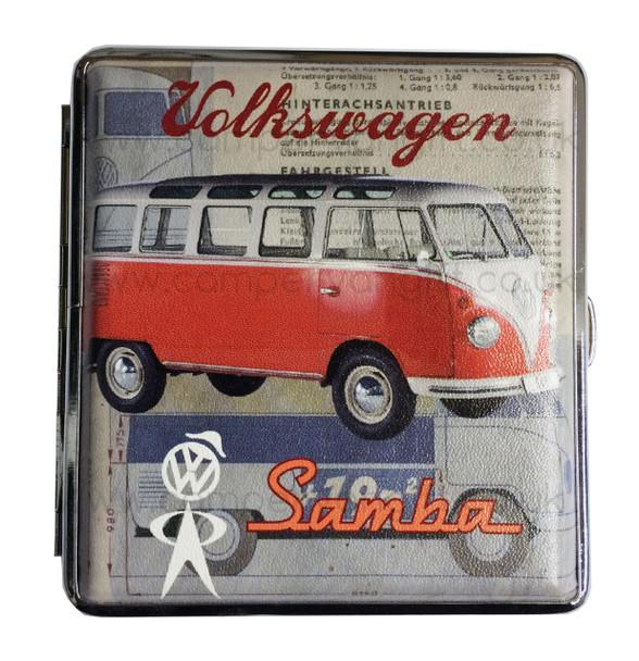 Official VW Vintage Campervan Cigarette Case - Red
